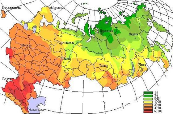 Какова температура в степи россии